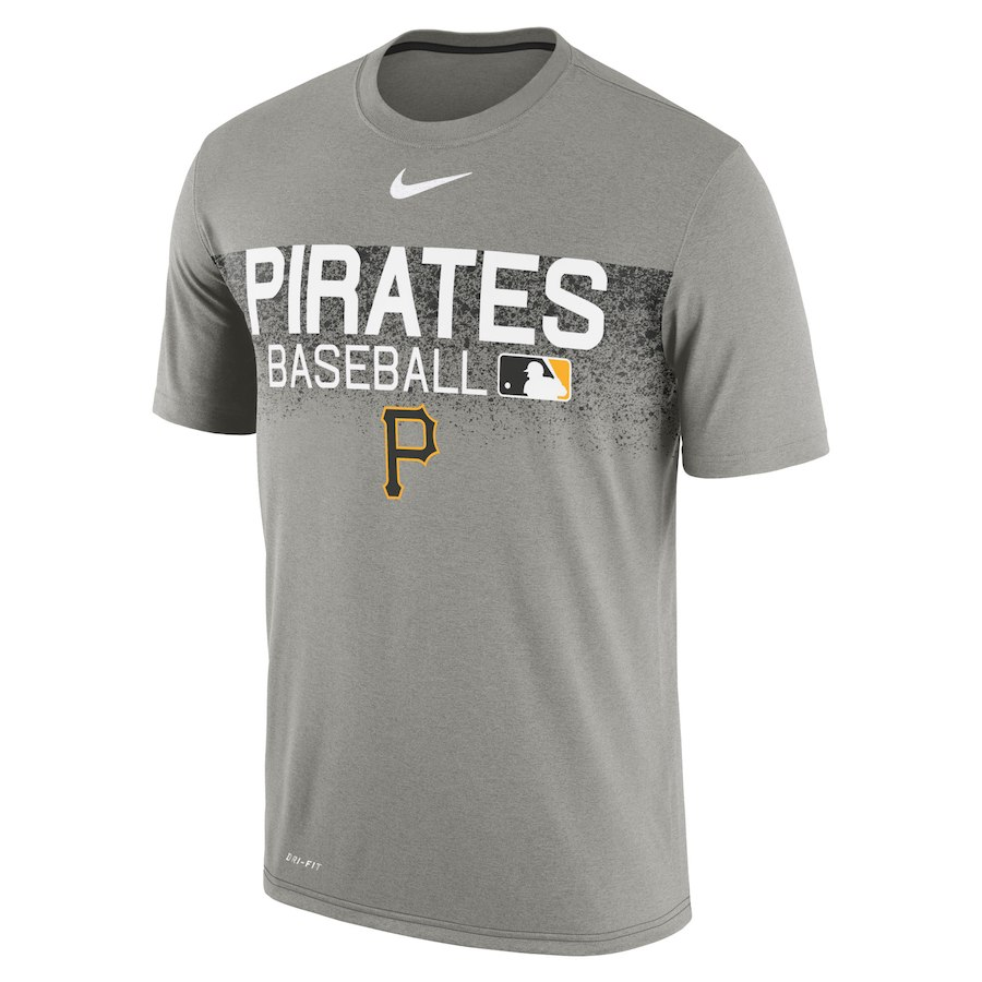 ナイキ メンズ MLB Pittsburgh Pirates Nike Authentic Collection Legend Team Issued T-Shirt Tシャツ 半袖 ドライフィット Gray