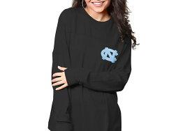 """即納 レディース """"North Carolina Tar Heels"""" Pressbox Women's The Big Shirt Oversized Long Sleeve T-Shirt Tシャツ 長袖 black"""