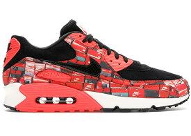 """ナイキ メンズ Nike Air Max 90 """"Atmos We Love Nike (Bright Crimson)"""" スニーカー BLACK/BRIGHT CRIMSON-WHITE エアマックス90"""