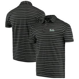 """アンダーアーマー メンズ """"UCLA Bruins"""" Under Armour Stripe Performance Polo ポロシャツ 半袖 ゴルフ Black"""