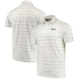 """アンダーアーマー メンズ """"UCLA Bruins"""" Under Armour Stripe Performance Polo ポロシャツ 半袖 ゴルフ White"""