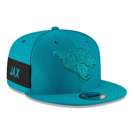 "ニューエラ メンズ キャップ ""Jacksonville Jaguars"" New Era 2018 NFL Sideline Color Rush Official 9FIFTY Snapback Hat 帽子 Teal"