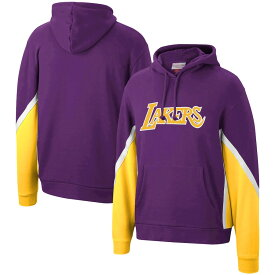 ミッチェル&ネス メンズ Los Angeles Lakers Mitchell & Ness Hardwood Classics Final Seconds Fleece Pullover Hoodie パーカー Purple