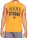 アンダーアーマー メンズ Under Armour x Project Rock Mana Strong Tank Top タンクトップ Steeltown Gold