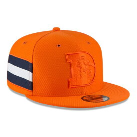 "ニューエラ メンズ キャップ ""Denver Broncos"" New Era 2018 NFL Sideline Color Rush Official 9FIFTY Snapback Hat 帽子 Orange"