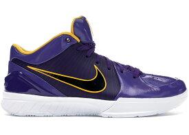 """ナイキ メンズ コービー Nike Kobe 4 Protro Undefeated """"Los Angeles Lakers"""" バッシュ PURPLE/UNIVERSITY GOLD-WHITE"""