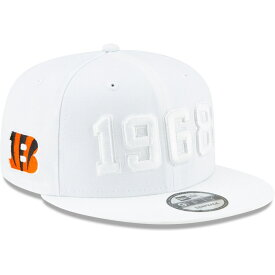 "ニューエラ メンズ キャップ ""Cincinnati Bengals"" New Era 2019 NFL Sideline Color Rush 9FIFTY Snapback Hat 帽子 White"