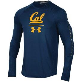 アンダーアーマー メンズ ロンT Cal Bears Under Armour 2018 Sideline Raid Performance Long Sleeve T-Shirt 長袖 Tシャツ Navy