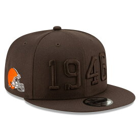 "ニューエラ メンズ キャップ ""Cleveland Browns"" New Era 2019 NFL Sideline Color Rush 9FIFTY Snapback Hat 帽子 Brown"