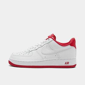 ナイキ メンズ エアフォース1ロー Nike Air Force 1 Low '07 スニーカー White/University Red
