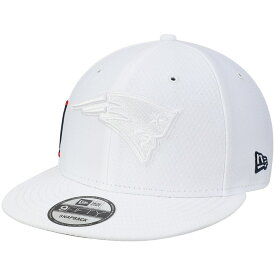 "ニューエラ メンズ キャップ ""New England Patriots"" New Era NFL Kickoff Color Rush 9FIFTY Adjustable Hat 帽子 White"