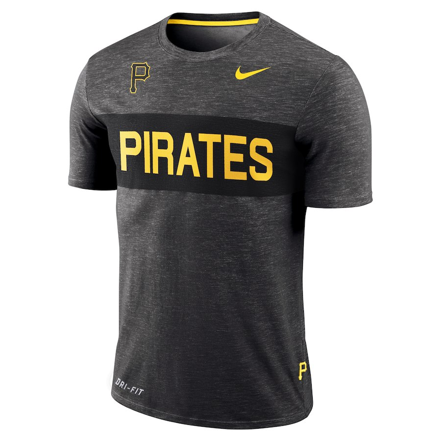 ナイキ メンズ MLB Pittsburgh Pirates Nike Slub Stripe Performance T-Shirt Tシャツ 半袖 Gray