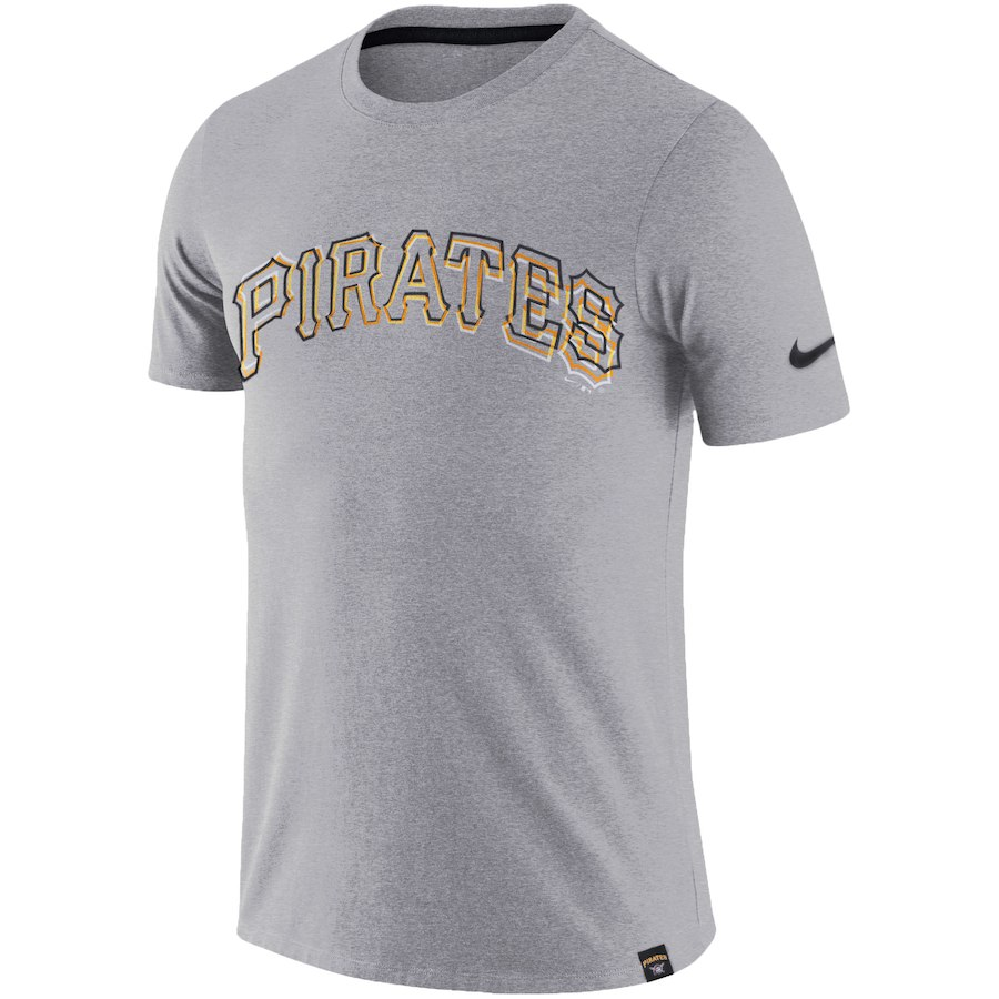 ナイキ メンズ MLB Pittsburgh Pirates Nike Marled Wordmark T-Shirt Tシャツ 半袖 Heathered Gray