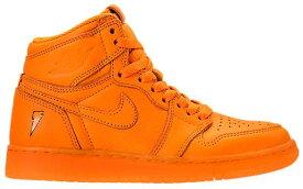 """ジョーダン キッズ/レディース Jordan Retro 1 High OG """"Like Mike"""" スニーカー Orange/Orange"""
