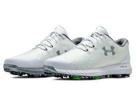 アンダーアーマー メンズ ゴルフシューズ Under Armour HOVR Drive Woven Golf Shoes スパイク White/Metallic Silver
