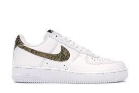 """ナイキ メンズ エア フォース ワン Nike Air Force 1 Low Retro Premium """"Ivory Snake"""" スニーカー White/Elemental Gold-Dark 高額レア"""