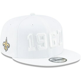 "ニューエラ メンズ キャップ ""New Orleans Saints"" New Era 2019 NFL Sideline Color Rush 9FIFTY Snapback Hat 帽子 White"
