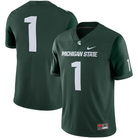 "ナイキ メンズ ""Michigan State Spartans"" Nike Game Jersey 半袖 Green"