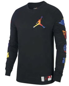 ジョーダン メンズ ロンT Jordan Sport DNA HBR Long Sleeve Crew T-Shirt 長袖 Tシャツ Black