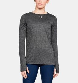 アンダーアーマー レディース ロンT Under Armour Locker 2.0 Long Sleeve Shirt Tシャツ 長袖 Carbon Heather