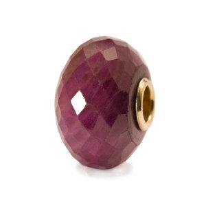 トロールビーズ Trollbeads ルビー(ゴールド) Ruby with Gold Core 天然石 Gemstone 18金 K18 ビーズ Beads