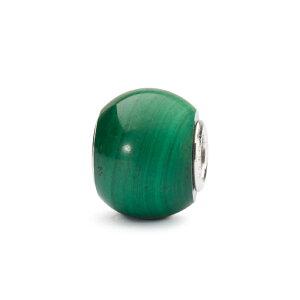 トロールビーズ Trollbeads ラウンドマラカイト Round Malachite 天然石 Gemstone ビーズ Beads