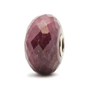 トロールビーズ Trollbeads ルビー(シルバー) Ruby with Silver Core 天然石 Gemstone ビーズ Beads
