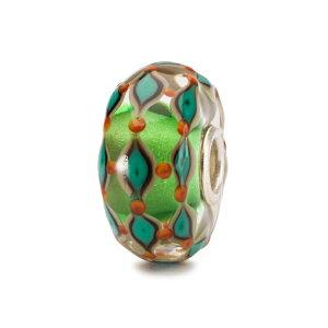 トロールビーズ Trollbeads グリーンフィールド Green Field ガラス Glass ビーズ Beads ハーモニーハーベスト Harmony Harvest