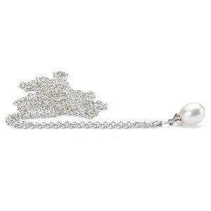 トロールビーズ Trollbeads ホワイトパールポリッシュドシルバーネックレス Fantasy Necklace with White Pearl, Polished Silver ユニセックス Unisex チェーン Chain 70cm/ 90cm リミテッドエディション Limited Edition