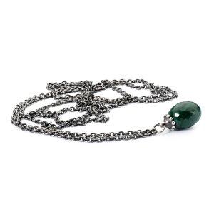 トロールビーズ Trollbeads マラカイトネックレス Fantasy Necklace with Malachite シルバー Silver ユニセックス Unisex チェーン Chain 60cm/ 70cm/ 80cm/ 90cm/ 100cm/ 110cm/ 120cm