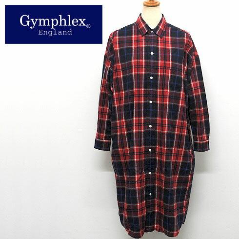 Gymphlex【ジムフレックス】ビエラ起毛チェックシャツワンピース【J-1176 VHC】20%OFF!!【楽ギフ_包装】【楽ギフ_メッセ入力】