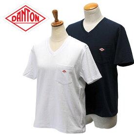 【10%OFF】 DANTON【ダントン】半袖Vネック ポケットTシャツ (メンズ・レディース)【JD-9088】【楽ギフ_包装】【楽ギフ_メッセ入力】