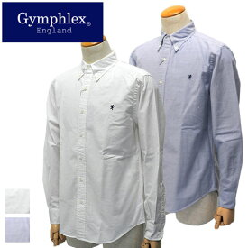 【20%OFF】Gymphlex【ジムフレックス】オックスフォードBD L/Sシャツ Men's(2020)【J-0643 YOX】【楽ギフ_包装】【楽ギフ_メッセ入力】