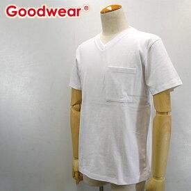 Goodwear【グッドウェア】USAコットン ポケットVネックTシャツ Men's【2W7-3508】【楽ギフ_包装】【楽ギフ_メッセ入力】