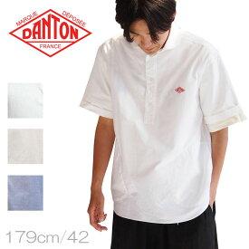 DANTON【ダントン】丸襟オックスフォードプルオーバーS/Sシャツ Men's【JD-3569 YOX】