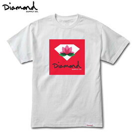 【セール/SALE-30】Diamond Supply Co.(ダイヤモンド) LOTUS BOX SIGN S/S T-SHIRTS (WHITE) TEE TS 半袖Tシャツ