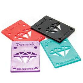 【メール便可】Diamond Supply Co.(ダイヤモンド) 1/8inch 2枚セット RISE AND SHINE RISER PADS ライザーパッド【スケートボード/スケボー/SKATEBOARD】