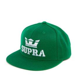 【セール/SALE-30】【2018HOLIDAY(4Q)】SUPRA(スープラ) ABOVE SNAPBACK CAP HAT (GREEN) スナップバックキャップ【国内正規取扱い店】【アパレル/ヘッドウェア】