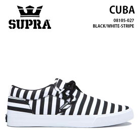 【2019SS】SUPRA(スープラ) CUBA(キューバ) BLACK-WHITE-STRIPE シューズ スニーカー【国内正規取扱い店】