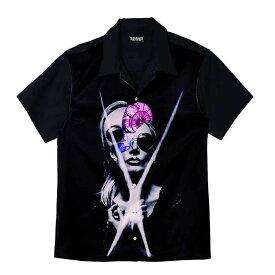 【セール/SALE-30】ZEPHYREN(ゼファレン) PHOTO PRINT SHIRT S/S (BLACK) 半袖シャツ