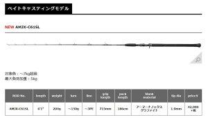 【ご予約】【送料無料】【新商品】スミスオフショアスティックAMJX【AMJX-C61SL】【スピニングモデル】
