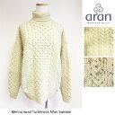 【2018AW】Aran Woollen Mills(アランウーレンミルズ)メリノウール フィッシャーマンズタートルネックニット/Merino wool 100% Fisher …