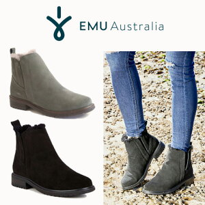 正規品 EMU Australia/エミュー/エミュ Pioneer(パイオニア)ウォータープルーフ ムートンブーツ サイドゴアブーツ 防水 シープスキン ファー スウェード W11292