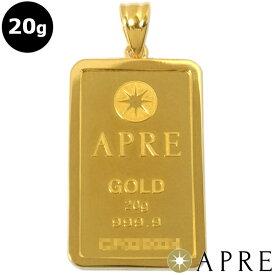【新品】 24金 純金 インゴット ペンダントトップ 20g ゴールドバー APRE GOLD BER 枠シルバー