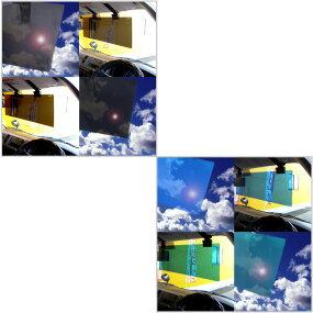 純正サンバイザーにクリップではさむだけカンタン装着☆【JETアクリルサンバイザー2トン-乗用車用(右用)(ブラックスモーク)】