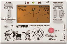 【ディズニーコレクション2020】 YAMAHA TDM-700DMN5 ミッキー &ミニー チューナー&メトロノーム