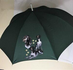 ジャーマンショートヘアードポインター(集合2) 傘 65cm 直径110cm レディース メンズ 男女兼用 雨傘 かわいい おしゃれ 梅雨 レイングッズ UVカット 風に強い 耐風 犬柄 いぬ 犬グッズ 犬プリン