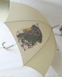 ラブラドールレトリーバー(ブラック・お花) 傘 65cm 直径110cm レディース メンズ 男女兼用 雨傘 かわいい おしゃれ 梅雨 レイングッズ UVカット 風に強い 耐風 犬柄 いぬ 犬グッズ 犬プリン