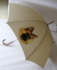 ジャーマンシェパード柄のワンタッチ傘です(NEW)