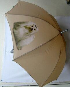マルチーズ(P) 傘 65cm 直径110cm レディース メンズ 男女兼用 雨傘 かわいい おしゃれ 梅雨 レイングッズ UVカット 風に強い 耐風 犬柄 いぬ 犬グッズ 犬プリント